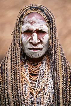 Papua New Guinea | Portrait of Asaro woman | © Art Wolfe