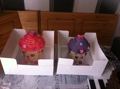 Giant cupcakes for 2 lil ladies x