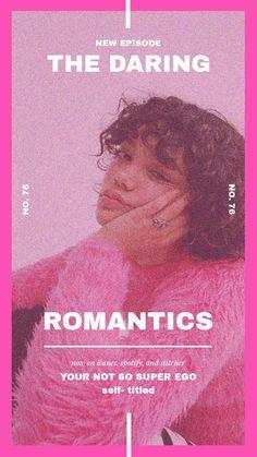 the daring romantics on Apple Podcasts Font Design, Design Typography, Graphic Design Posters, Modern Graphic Design, Lettering, Graphic Design Inspiration, Web Design, Layout Design, Branding Design