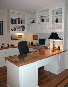 """Home Office in """"U"""" shape with desk"""