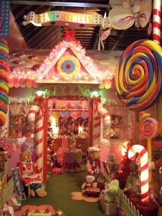 Candyland, Candyland house, This is our Candyland house in our Christmas Store in Perry Florida. I used Great Stuff to make the window frost. Candy Land Christmas, Christmas Store, Christmas Gingerbread, Pink Christmas, Outdoor Christmas, All Things Christmas, Xmas, Office Christmas Decorations, Christmas Themes