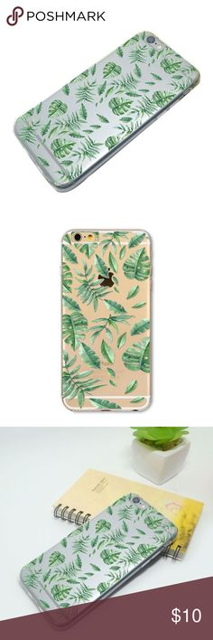 the tropical leaves phone case • style name: the tropical leaves phone case • color: clear w/ green leaf design • material: soft gel tpu • glossy finish case w/ leaf print design • flexible tpu body covers sides • comment to request for a phone not listed • condition: brand new boutique item ____________________________________________________ ✅ make an offer!     ✅ i bundle! ✅ posh compliant closet ⛔️ no trades 🛍 boutique item THE EDGY SHOP Accessories Phone Cases