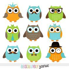 clip art picutres clipart clip art owls aqua and brown clip rh pinterest com digital clipart websites digital clipart for sale