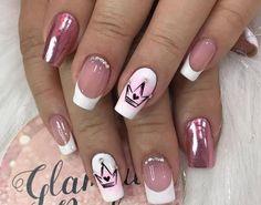 Best Acrylic Nails, Pink Nails, Beauty Nails, Nail Designs, Make Up, Nail Ring, Natural Beauty Hacks, Chic Nails, Frases