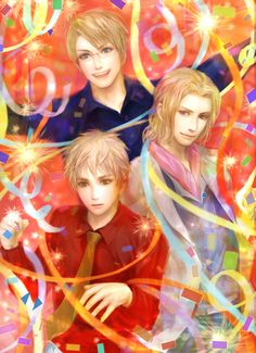 Tags: Anime, Erico Lotus, Axis Powers: Hetalia, United Kingdom, United States, France, Surprised
