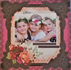 A simple layout using the Lady Rose paper collection from Kaisercraft. By Kelly-ann Oosterbeek.