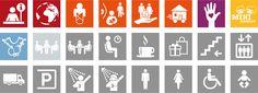 Logos für das Leitsystem für das neue Caritas Haupthaus in Graz Illustration, Logos, Mini, Design, Graz, First Aid, A Logo, Illustrations