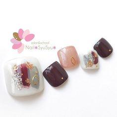 Japanese Nail Design, Japanese Nails, Best Nail Art Designs, Toe Nail Designs, Acrylic Nails Yellow, Feet Nail Design, Asian Nails, Manicure Y Pedicure, Nail Art Videos