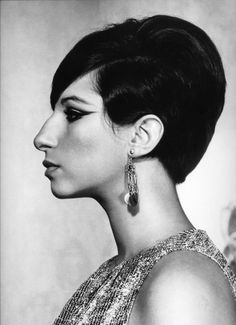 The striking profile of Barbra Streisand
