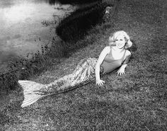 Our very good friend Jo McCoy during her time as a Weeki Wachee Mermaid. (1960's)