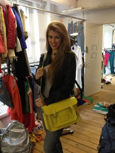 Amy Willerton spotted with the lovely Daffodil Yellow Zatchel £87