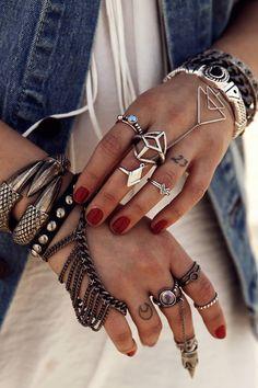 Gypsy Boho Bohemian Style Inspiration Jewelry. For more followwww.pinterest.com/ninayayand stay positively #pinspired #pinspire @ninayay
