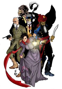 The League of Extraordinary Gentlemen, by Adam Hughes.