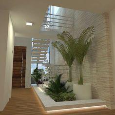 inspiration unique ideas for indoor garden under stairs 10 Inside Garden, Exterior Design, Stairs Design, Container House Design, House, Modern House Design, Interior Garden, House Exterior, Patio Interior