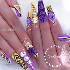 """3,093 Me gusta, 18 comentarios - Vanessa Gisselle Colón (@vanessa_nailz) en Instagram: """"For when @vincentnails slays like this it is when my heart melts ✨✨✨✨✨✨ Amazing…"""""""