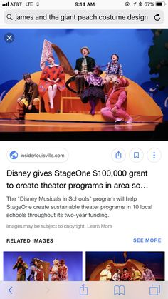James And The Giant Peach Costume, James And Giant Peach, School Programs, Set Design, Jr, Musicals, Drama, Club, Inspiration