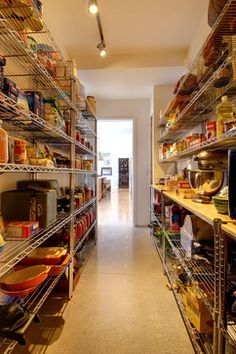 great idea - huge pantry off of the kitchen to keep food and appliances
