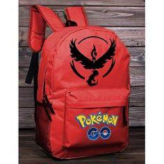 Pokemon GO Black on Red Team Valor Backpack