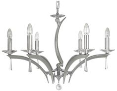 Oaks Lighting Sale. The Wroxton 6 Light Crystal Chandelier from Oaks Lighting is available from Luxury Lighting. The Oaks Wroxton 6 Light Ceiling Light is cast brass in a chrome finish with 30% lead crystal dressings. The Wroxton 6 Light Pendant is part of the Premier Collection by Oaks Lighting.