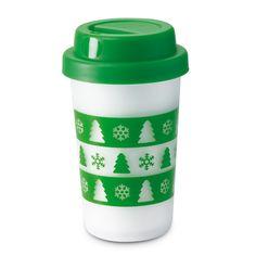 PAHAR IA-MA CU TINE -  15 LEI Savureaza-ti cafeaua sau ceaiul preferat in drum spre munca sau cursuri! Si nu oricum, ci intr-un pahar frumos decorat cu braduti si fulgi de nea.