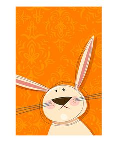 Take a look at this Orange Rabbit Gallery-Wrapped Canvas by Heather B. Warriner on #zulily today!