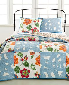 Closeout! Martha Stewart Collection Wave Garden King Quilt (Only at Macy's)