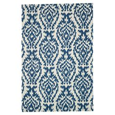 Anchor your living room seating group or define space in the den with this artfully hand-hooked rug, showcasing an ikat-inspired medallion motif for eye-catc...