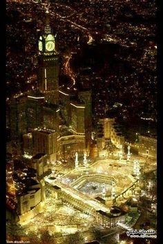 Makkah#Subhan Allah, bagai taburan permata nan indah....betebaran di hamparan bumi Mekah..