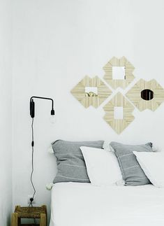White and grey bedroom in a relaxed Danish oasis in Palma, Mallorca. Tine K Home.