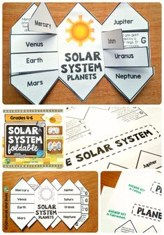 One of a kind solar system foldable to learn or review facts about planets. This foldable is FUN and EASY for your students to make.This resource may be used with students from 4th grade to 6th grade.