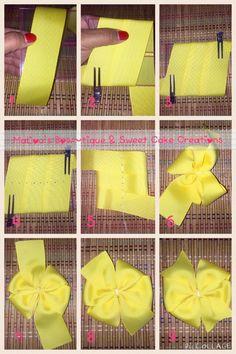 Pinwheel bow or clip salvabrani – Artofit How To Make Ribbon, Diy Ribbon, Ribbon Bows, Making Hair Bows, Diy Hair Bows, Pinwheel Bow, Hair Bow Tutorial, Boutique Hair Bows, Lace Bows