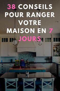 38 CONSEILS POUR RANGER TOUTE VOTRE MAISON EN MOINS DE 7 JOURS ASTUCES SIMPLES A METTRE EN PLACE#immobilier #architecture #rangement #astuces #homedecor #deco #maison Journal Organization, Home Organisation, Organization Hacks, Organizing, Konmari, Green Life, Home Hacks, Home Staging, Clean House