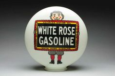 Original 1-Piece White Rose Gas Globe