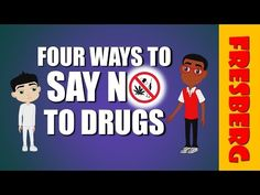 Learning how to say no to drugs is not easy. Watch Mr. Earl talk about what drugs are and how to say no when approached with drugs. This video for kids is great for Red Ribbon Week and helping young students understand to stay away from drugs. Don't forget to SUBSCRIBE, LIKE, COMMENT AND SHARE!!!! Follow us online at: http://www.facebook.com/fresbergcartoon http://www.twitter.com/fresbergcartoon http://www.instagram.com/fresbergcartoon http://www.pinterest.com/fresbergcartoon