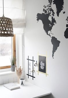 world map wall stickers..