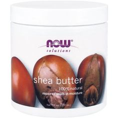 Now Foods, Pure Shea Butter is a natural skin product for treatment of dry or chapped skin. The Shea Butter is manufactured using karite trees, which are found in Western and Central Africa. Shea butter is quite popular all over t Natural Moisturizer, Cosmetic Database, Belleza Natural, Anti Aging Cream, Body Butter, Pure Products, Hair Products, Health Products, Shea Butter