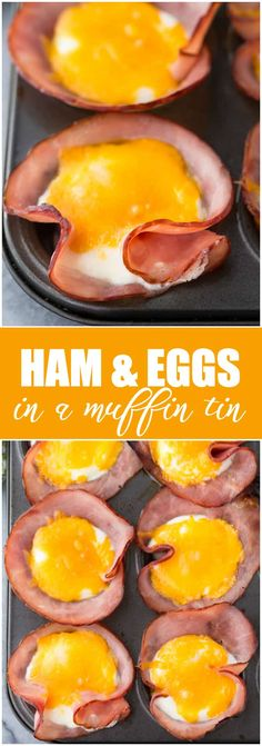 & Eggs in a Muffin Tin Recipe - Simply Stacie Ham & Eggs in a Muffin Tin - A quick and easy breakfast for a low carb lifestyle!Ham & Eggs in a Muffin Tin - A quick and easy breakfast for a low carb lifestyle! Eggs In Muffin Tin, Muffin Tin Recipes, Muffin Pans, Ham Breakfast, Low Carb Breakfast, Breakfast Casserole, Camping Breakfast, Diabetic Breakfast Recipes, Breakfast In Muffin Tins