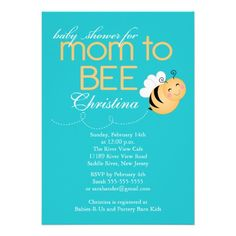 Modern Mom to Bee Baby Shower Invitation