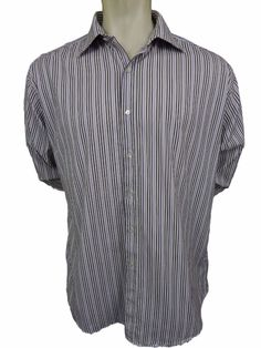 BCBG MAX AZRIA Dress Shirt Size XL 17 35 Slim Fit French Cuffs Button Front #BCBGMAXAZRIA