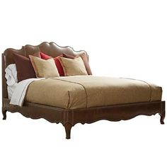 Henredon Leather Select California King Upholstered Bed with Nailhead Trim