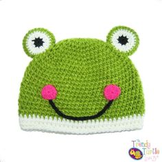 $10.95-$15.95 Baby Girls Soft Crochet Frog Beanie Winter Hat Cap - Great for Christmas Holiday Gift Giving Stocking Stuffers or Ski Snowboarding for Older Toddlers to Older... - You won't be disappointed with this adorable crochet frog beanie. As with all The Trendy Turtle products, you'll find a combination of high quality crochet knitting combined with super soft materials.  Adorable designs a ...