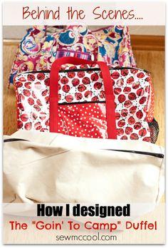 How I designed a duffel bag by sewmccool