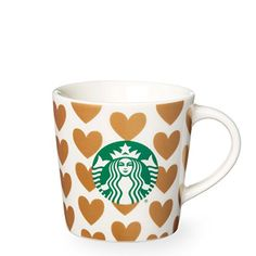 Starbucks Golden Hearts Demi Mug, 3 Fl Oz ** A special product just for you. Starbucks Birthday, Starbucks Coffee, Starbucks Tumbler, Coffee Cups, Tea Cups, Coffee Time, Thermos, Teenage Girl Gifts, Cool Mugs