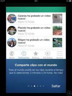 Comparte clips con el mundo