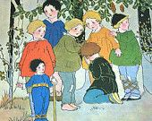 Hop O My Thumb, Vintage Childrens Book Illustrations, Fairy Tale, Margaret Evans Price, Little Boys, Brothers