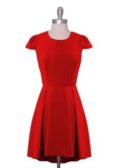 Ruby Red Cap Sleeve Dress ~ love it!