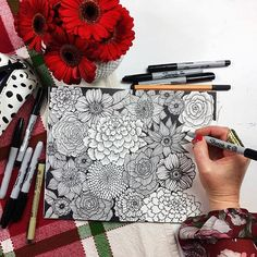 black and white drawings from Alisa Burke