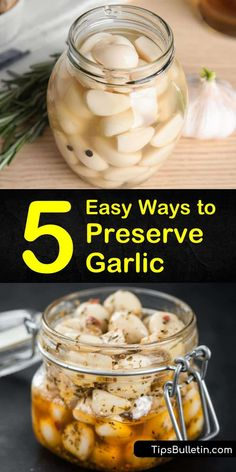 Find out how to preserve garlic in vinegar and in oil with our simple guide. We show you how to store garlic cloves in olive oil and give you options for including minced garlic in your favorite pickles recipe. Home Canning Recipes, Cooking Recipes, How To Store Garlic, How To Preserve Garlic, How To Roast Garlic, Can You Freeze Garlic, How To Cook Garlic, Freezing Garlic, Preserving Garlic
