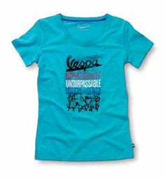 Vespa T-shirt #Vespa #scooter #garment #graphics #shirt #blue