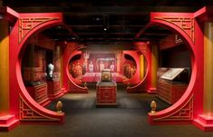 a representation of Kublai's summer palace at Shangdu (Xanadu) has been built inside the Genghis Khan exhibition